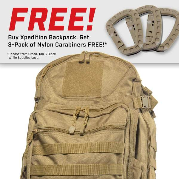 Xpedition Tactical Backpack - Desert Sand