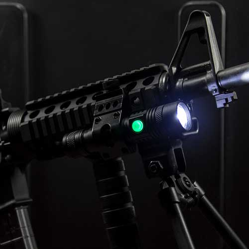 KYBER 550 Compact Tactical Flashlight with Smart Power Technology and Rail Mount