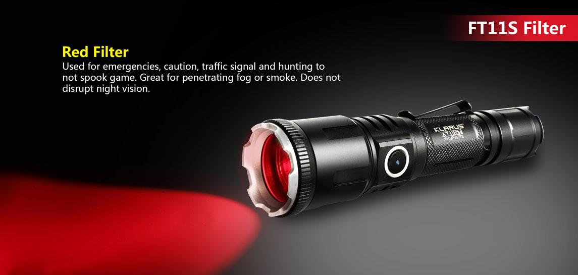 Klarus FT11S - Red Aluminum Alloy Color Filter