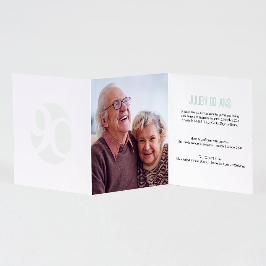 carte d invitation anniversaire 90 ans