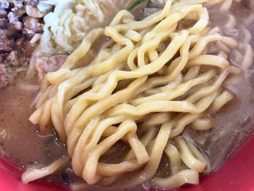どさん子ラーメン 浜松シーサイド店「赤練」麺