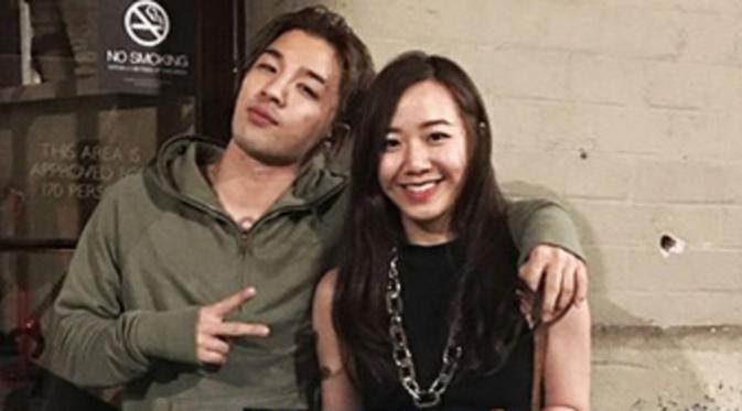 Taeyang with cute, Girlfriend Min Hyo Rin