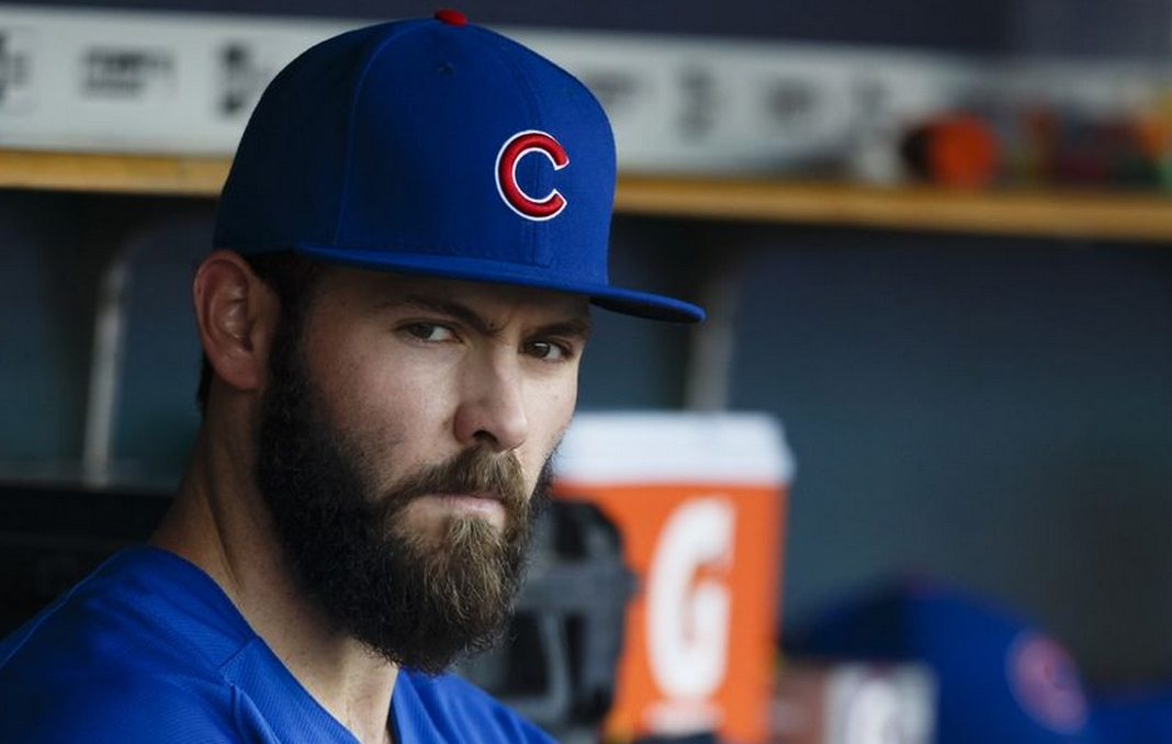 The 32-year old son of father (?) and mother(?), 175 cm tall Jake Arrieta in 2018 photo