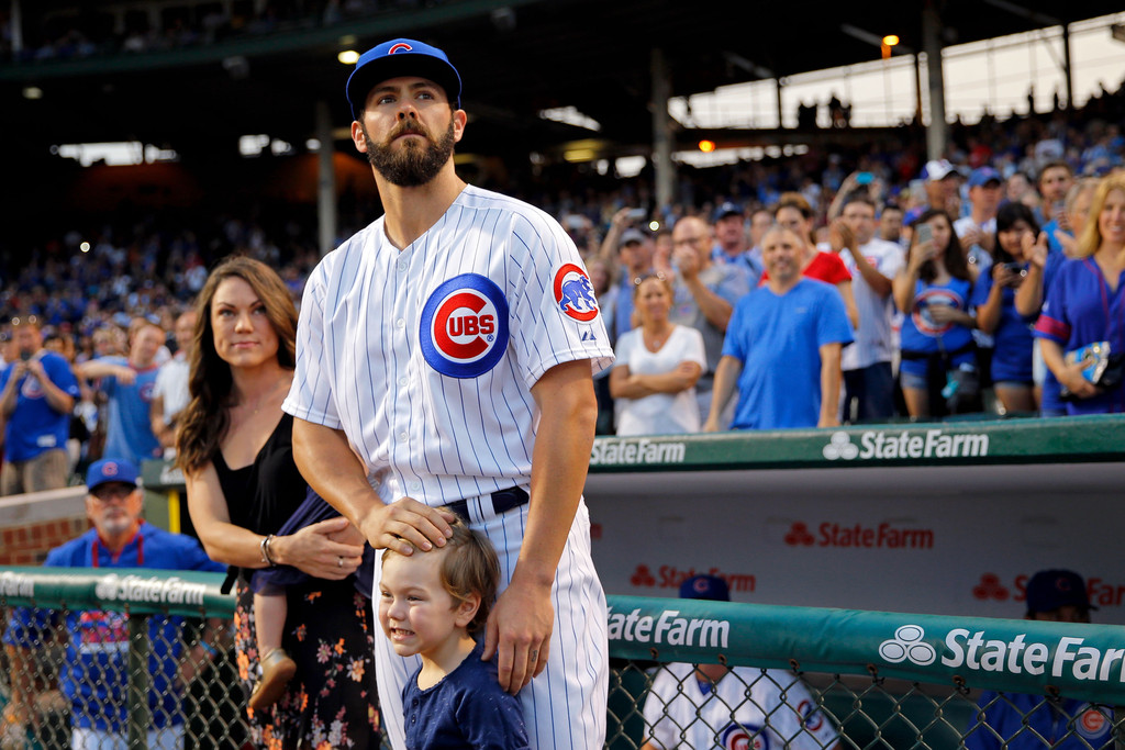 Jake Arrieta with Wife Brittany