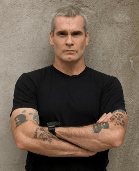 Den 57-år gammal, 177 cm lång Henry Rollins in 2018 photo