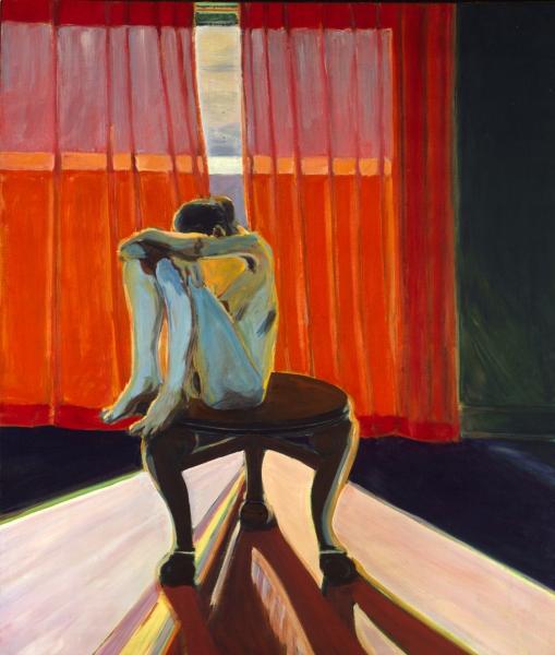 1966 03 01 Roter Vorhang Öl auf Leinwand 135x195 1