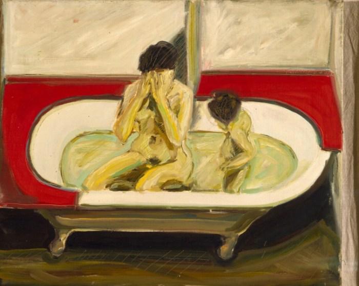 1968 01 07 Badewanne Öl auf Leinwand 50x60 1