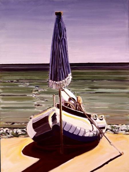1968 04 01 Schlauchboot Öl auf Leinwand 135x100 1