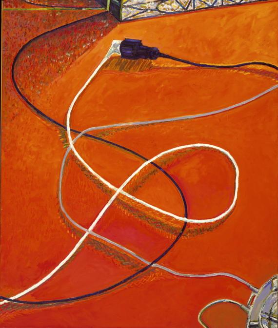 1979 05 02 Schnüre hoch Öl auf Leinwand 200x170 cm