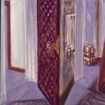 1980 14 01 Zwei Türen Öl auf Leinwand 55x45 cm