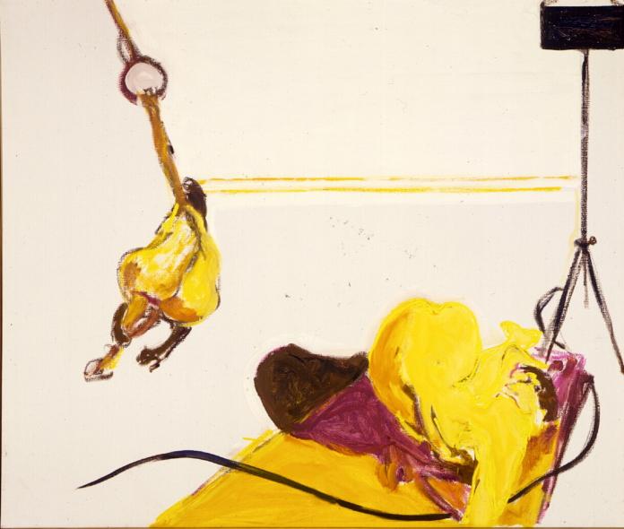 1986 03 14 2 Akte japanisch Öl auf Leinwand 120x140 cm