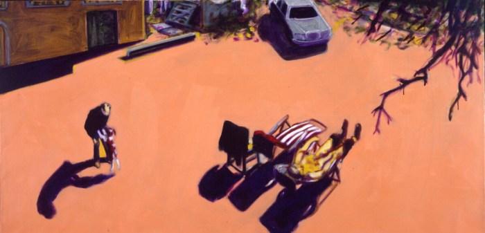 1990 05 13 Casa Testaferrata Öl auf Leinwand 90x180 cm