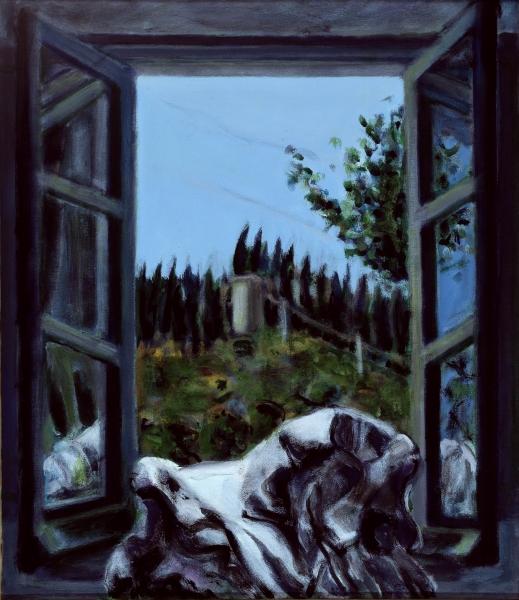 2001 13 01 Testa Fenster Acryl auf Leinwand 70 x 60