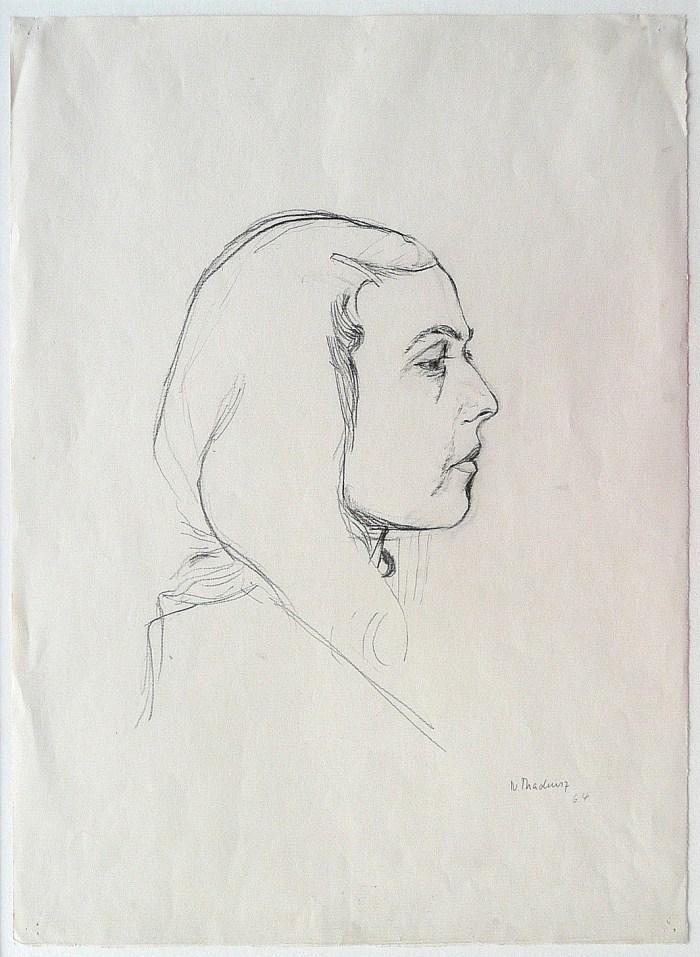 1964 02 01 o.T. Graphite auf Papier 44x32 2