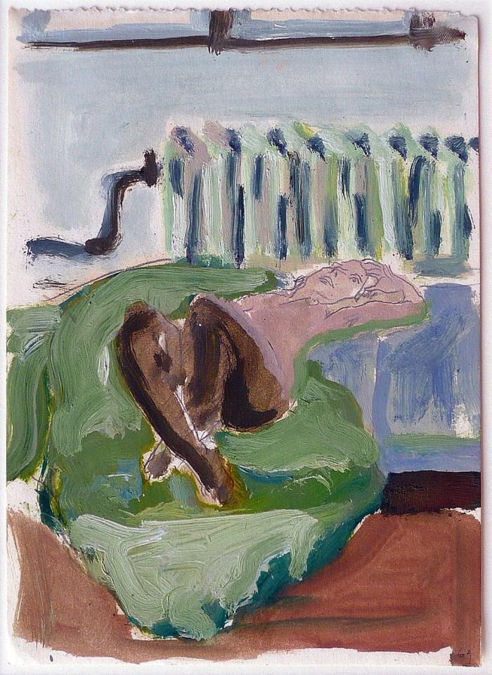 1969 02 03 o.T. Graphite und Öl auf Papier 235x17 2
