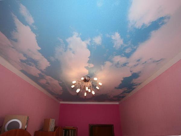 Небо на потолок: обои