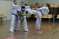 Black Belt Grading Turning kick break LH