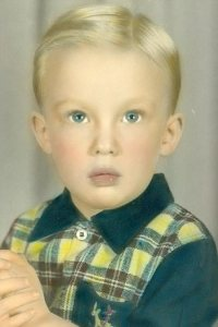 Photograph of Donald Trump at the age of three.