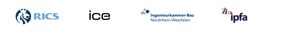 TA Europe are accredited by or are members of RICS, ICE, Ingenieurskammer NRW, IPFA
