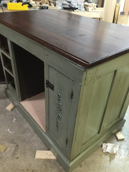 New life for an old desk     Worthy s Run Furniture Next I added brown glaze also from General Finishes