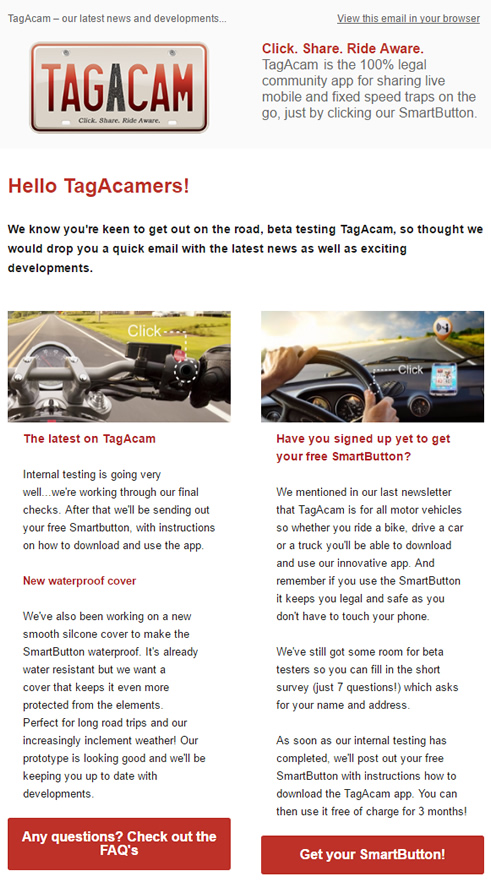 TagAcam's third newsletter