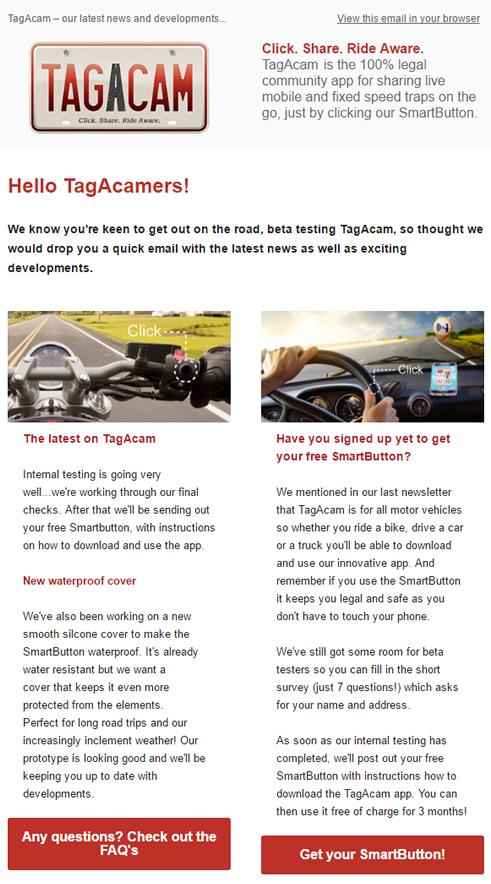 TagAcam's 3rd newsletter