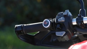 SmartButton mounted on bike