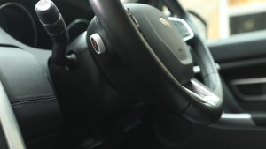 SmartButton mounted on steering wheel