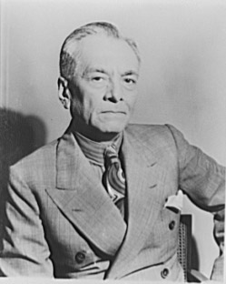 Picture of Filipino president Manuel Quezon