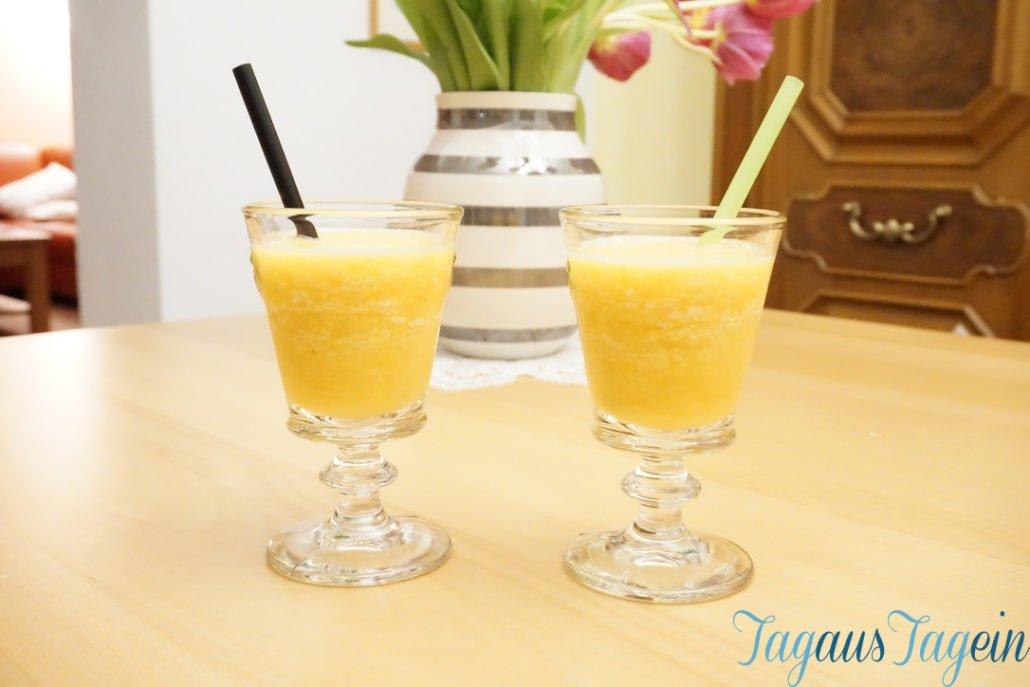 Pfirsich-Orangen-Cocktail