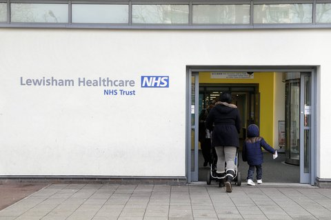 Entrance to the clinic in Lewisham in south London.
