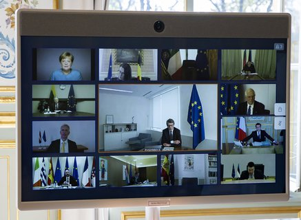 Home office summit: The EU heads of state and government met via video conference.