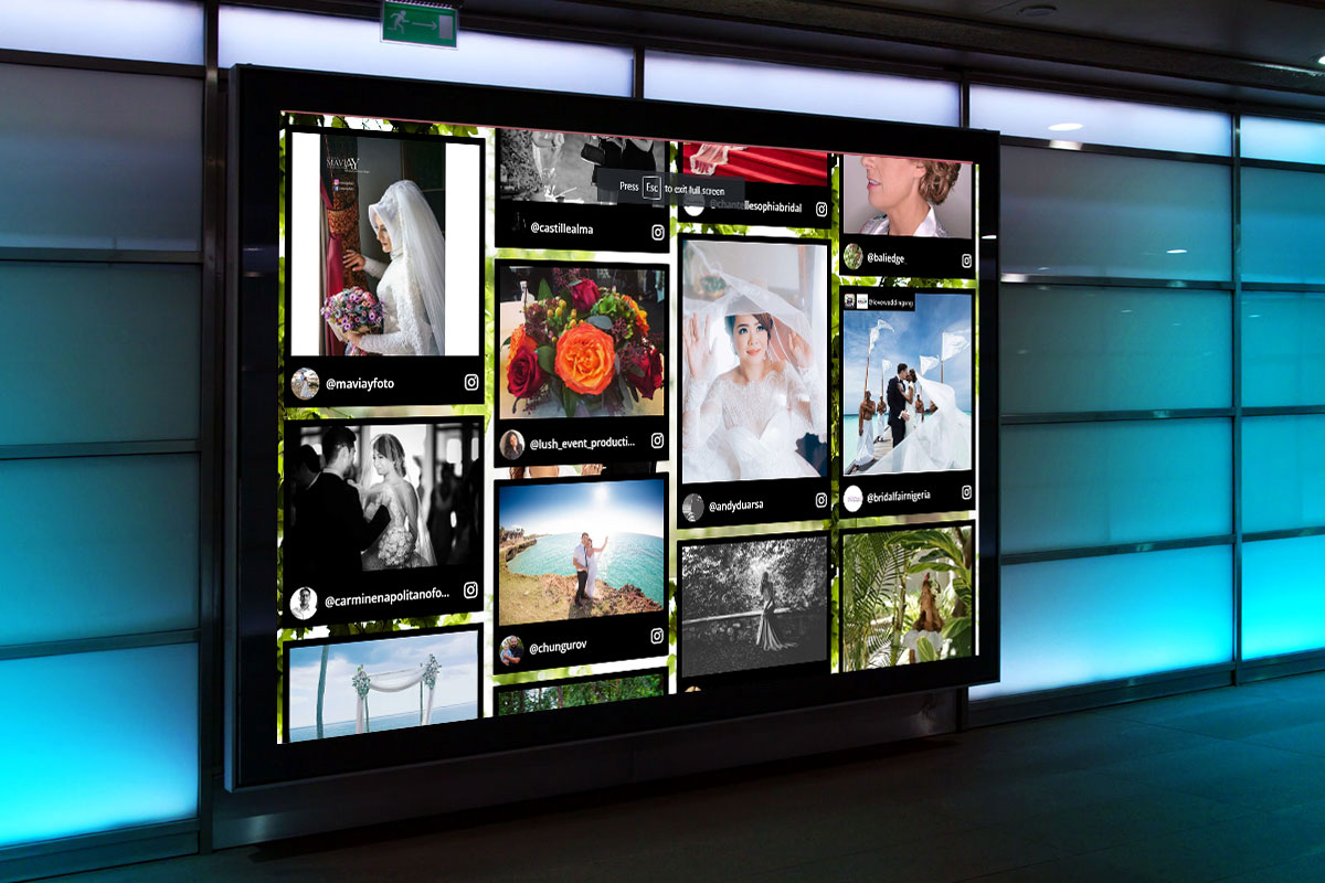 One Great Thing About Social Wall For Weddings Is That They Are Flexible And Can Be Adapted To The Number Of Screen Sizes You Easily Display