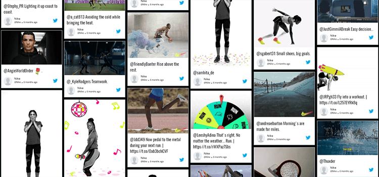 Twitter Wall Nike Taggbox