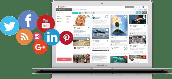 social media hub on website