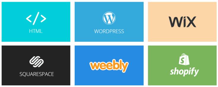 Choose website builder