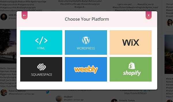 Choose embed platform