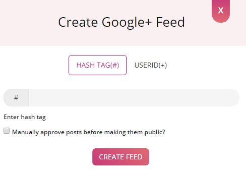 Create Google+ Feed