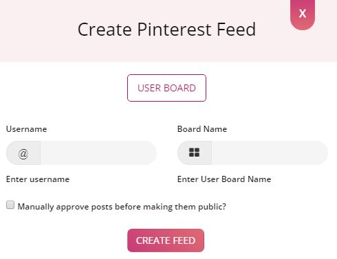create pintrest feed
