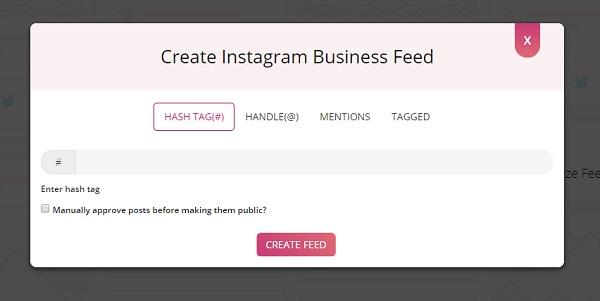 Instagram Hashtag content