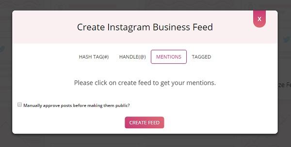 Instagram mention posts