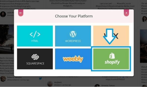Choose Shopify to Embed Social Wall
