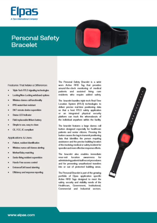Elpas Personal Safety Bracl