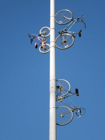 Jack London Square-Bikes on light posts