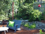 Habitat Garden featuring a nesting box and seed feeder