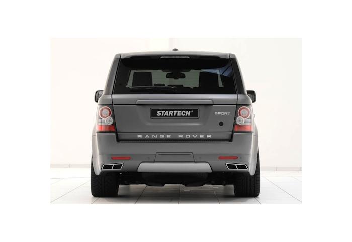 startech range rover sport rear bumper skirt with exhaust tips