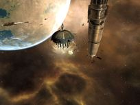 Looking at Amarr Station and Monument