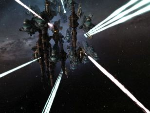 Dreadnoughts busting a station in Fountain