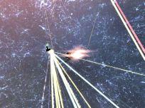 Warrior II burning towards a target