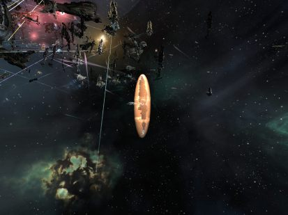 A Naglfar's shields flaring after a doomsday hit